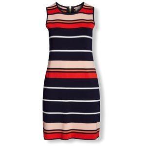 Eliza J stripe sleeveless sweater dress size large